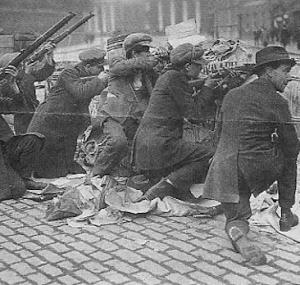 Irish rebels in Dublin 1916 Rising