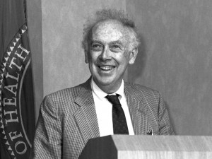 One of the co-discoverers of deoxyribonucleic acid (DNA) with Francis Crick. Between 1988-1992, Dr. Watson was associated with the National Institutes of Health helping to establish the Human Genome Project.